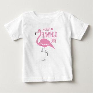 T-shirt Pour Bébé Dame folle de flamant
