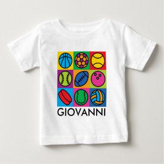 T-shirt Pour Bébé Damier de boule de sports
