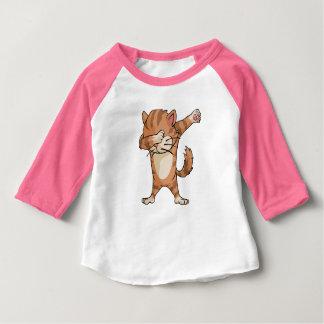 T-shirt Pour Bébé Danse mignonne de Dabber de chat de limande