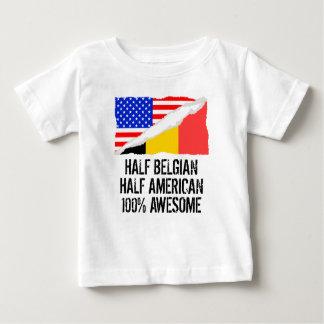 T-shirt Pour Bébé Demi de demi d'impressionnant américain belge