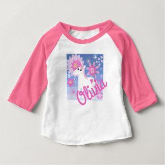 T-shirt Pour Bébé Dessus fait sur commande du bébé 3/4-Sleeved de