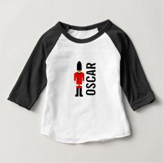 T-shirt Pour Bébé Dessus gainé de bébé de la coutume 3/4 britannique