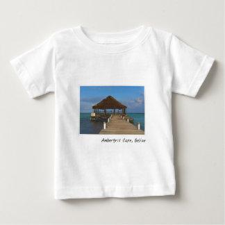 T-shirt Pour Bébé Destination de voyage de Caye Belize d'ambre gris