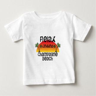 T-shirt Pour Bébé Détendez déroulent la plage de Champagne