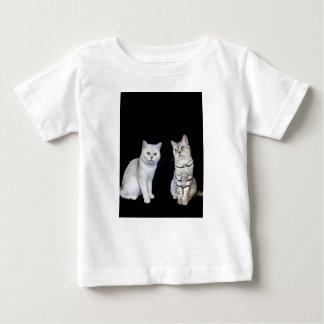 T-shirt Pour Bébé Deux chats britanniques de cheveux courts sur