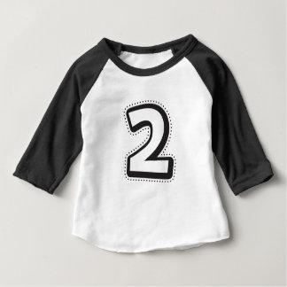 T-shirt Pour Bébé Deuxième chemise d'anniversaire, 2ème anniversaire