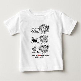 T-shirt Pour Bébé Dieu contre les aliments de préparation rapide