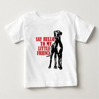 T-shirt Pour Bébé dites bonjour à mon petit ami