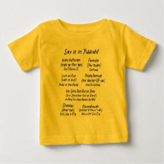 T-shirt Pour Bébé Dites-le dans Yiddish !
