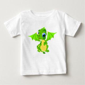 T-shirt Pour Bébé Dragon vert de bébé timide