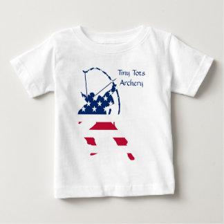 T-shirt Pour Bébé Drapeau américain d'archer de tir à l'arc des