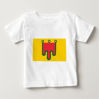 T-shirt Pour Bébé Drapeau d'Auvergne - Drapeau de la Région Auvèrnhe