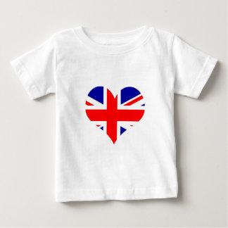 T-shirt Pour Bébé Drapeau de coeur d'Union Jack
