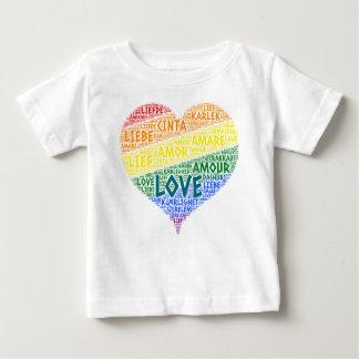T-shirt Pour Bébé Drapeau de foyer d'arc-en-ciel de LGBT illustré