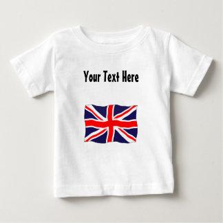 T-shirt Pour Bébé Drapeau d'Union Jack - personnalisable avec votre