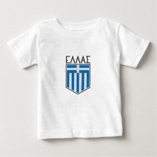 T-shirt Pour Bébé Drapeau grec