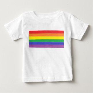 T-shirt Pour Bébé Drapeau peint d'arc-en-ciel