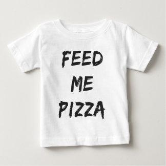 T-shirt Pour Bébé Drôle alimentez-moi la copie de citation de pizza