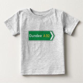 T-shirt Pour Bébé Dundee, panneau routier BRITANNIQUE