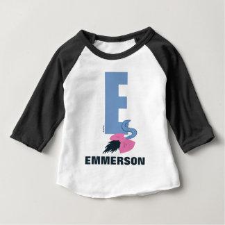 T-shirt Pour Bébé E est pour Eeyore | ajoutent votre nom