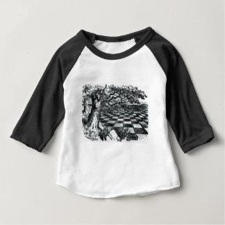 T-shirt Pour Bébé Échiquier au pays des merveilles