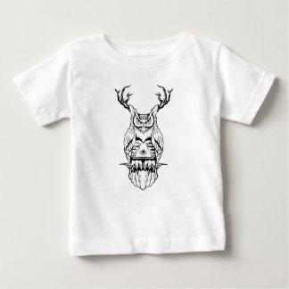 T-shirt Pour Bébé éclair de hibou à cornes