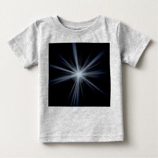 T-shirt Pour Bébé Éclat bleu de fusée de lentille