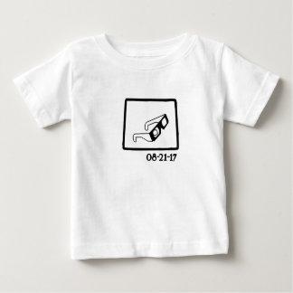 T-shirt Pour Bébé Éclipse solaire Wyoming 2017