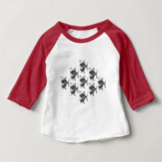 T-shirt Pour Bébé École des poissons heureux