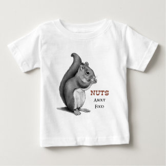 T-shirt Pour Bébé Écrous au sujet de nourriture : Écureuil : Dessin