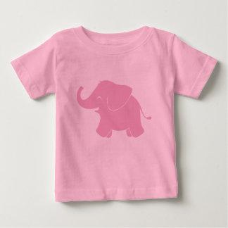 T-shirt Pour Bébé Éléphant rose mignon heureux