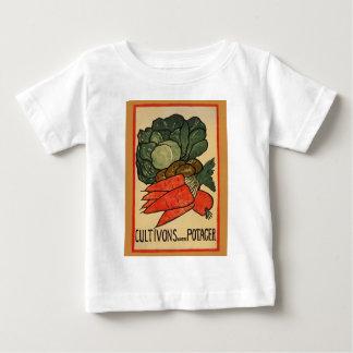 T-shirt Pour Bébé Élevons un potager