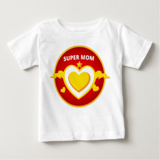 T-shirt Pour Bébé Emblème drôle de maman d'instantané de super héros