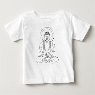 T-shirt Pour Bébé Encre Bouddha compatissant