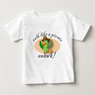 T-shirt Pour Bébé Entretien comme un perroquet de pirate