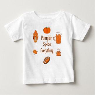T-shirt Pour Bébé épice de citrouille tout
