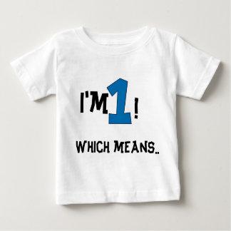 T-shirt Pour Bébé ęr anniversaire