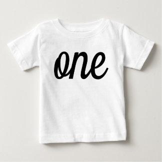 T-shirt Pour Bébé Ęr anniversaire de manuscrit noir