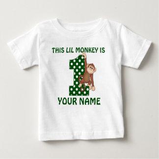T-shirt Pour Bébé ęr Chemise personnalisée par singe de garçon