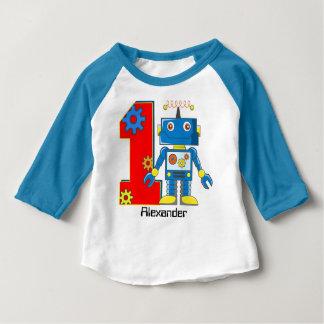 T-shirt Pour Bébé ęr Coutume de robot d'anniversaire