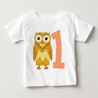 T-shirt Pour Bébé ęr Hibou d'anniversaire