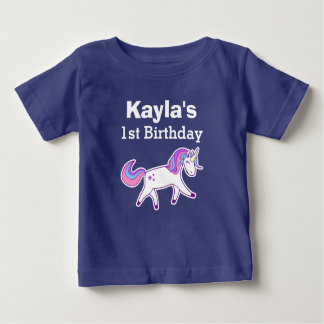 T-shirt Pour Bébé ęr Licorne magique mignonne d'anniversaire
