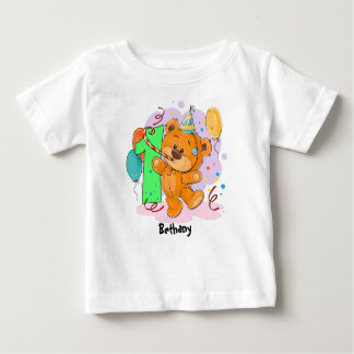 T-shirt Pour Bébé ęr Ours de nounours d'anniversaire