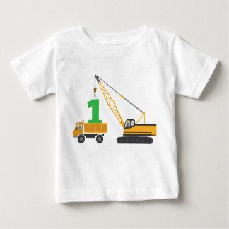 T-shirt Pour Bébé ęr Pièce en t de construction d'anniversaire
