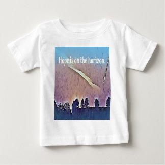 T-shirt Pour Bébé Espoir artistique de paysage sur la citation