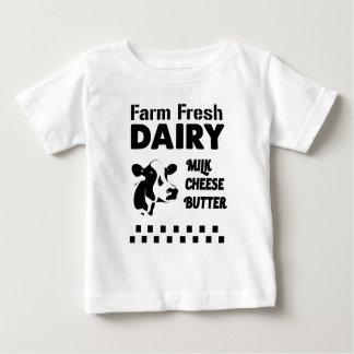 T-shirt Pour Bébé Exploitation laitière fraîche, beurre de fromage