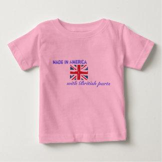 T-shirt Pour Bébé Fabriqué en Amérique avec les pièces britanniques