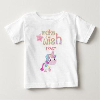 T-shirt Pour Bébé Faites une bande dessinée de partie de licorne de
