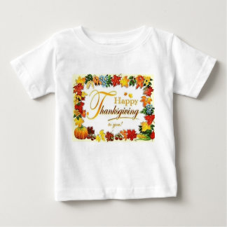T-shirt Pour Bébé Feuille coloré de bon thanksgiving vintage