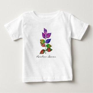 T-shirt Pour Bébé Feuille d'arc-en-ciel d'aquarelle